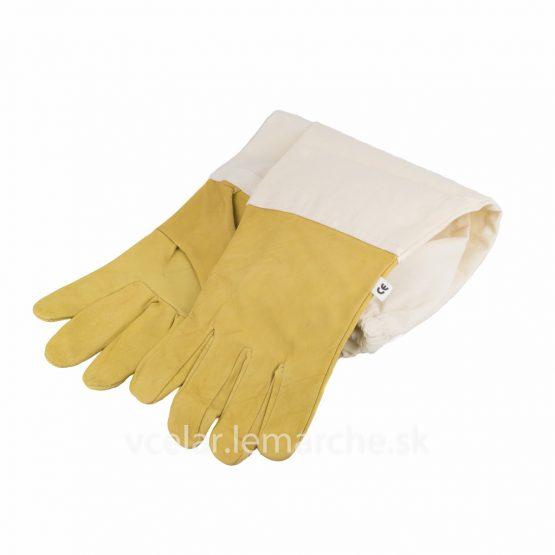 Včelárske rukavice koža T1