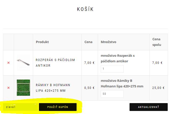 Ako použit zľavový kupón na vcelar.lemarche.sk