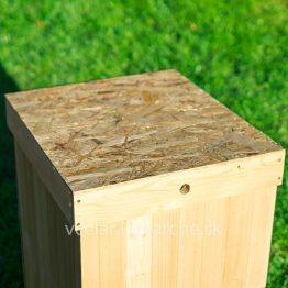 Úľ B10 zateplený detail strecha